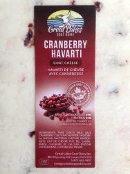 Goat Havarti- Cranberry Ontario